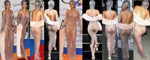 Rihanna Transparentando Todo Recogiendo Un Premio