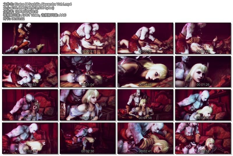 [18x][3D]战神&灵魂能力-奎托斯和苏菲提雅